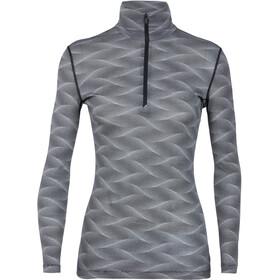 Icebreaker W's 200 Oasis Curve LS Half Zip Shirt Black/Snow